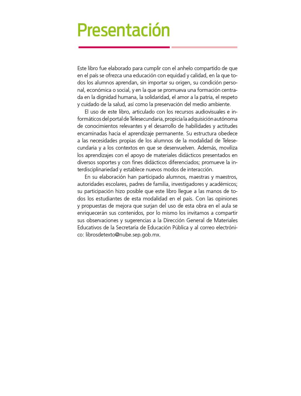 Lengua Materna Espanol Segundo Grado Volumen Ii Libro De Telesecundaria Grado 2 Comision Nacional De Libros De Texto Gratuitos